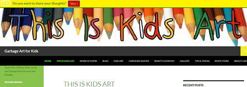 This is kids art, Garbage art for kids