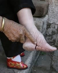 ingebonden voeten