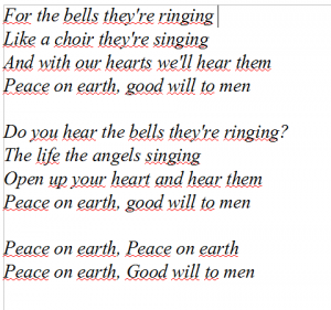 Peace on earth, I heard the bells on Christmas day, Casting Crowns