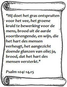 Hij doet het gras ontspruiten psalmen 104 vers 14 en 15