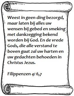 Weest in geen ding bezorgd, Filippenzen 4 vers 6 en 7
