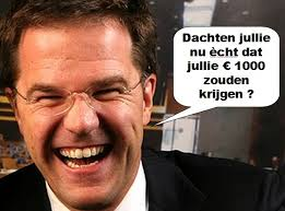 Mark Rutte 1000 euro