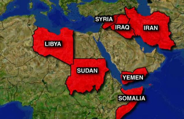7 moslim landen in de ban