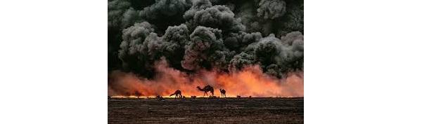 oliebronnen in brand