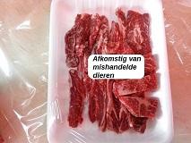 vlees van mishandelde dieren