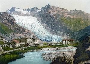 Lawine gevaar in de Alpen