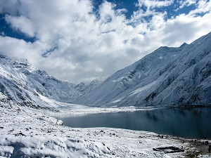 Sneeuwval in Pakistan