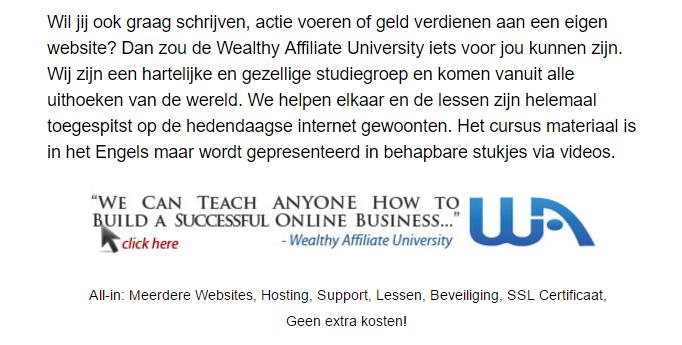 Wil jij ook graag schrijven op een website