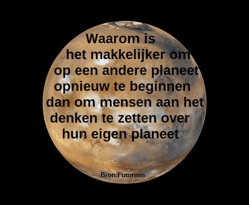 kolonisatie van mars quote, world population today