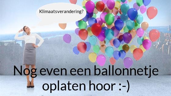 Nog even een ballonnetje oplaten